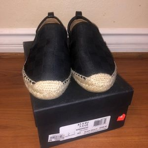 Marc Jacobs Black Multi Slip On Shoes